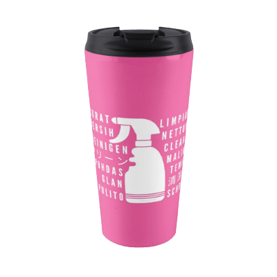 Clean In Every Language Savvy Cleaner Funny Cleaning Gifts Travel Mug