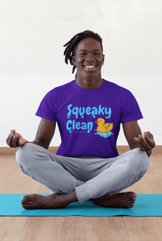 Squeaky Clean, Savvy Cleaner T-Shirt, Man in purple