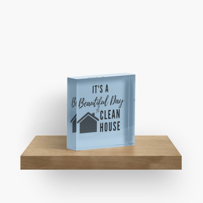 Beautiful Day to Clean House, Savvy Cleaner Funny Cleaning Gifts, Collectible Cleaning Cubes