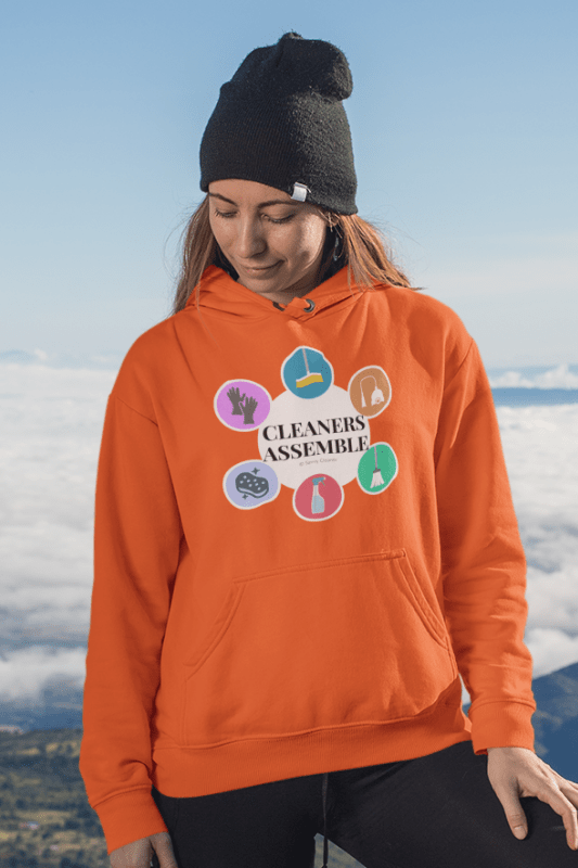 Cleaners Assemble, Savvy Cleaner Funny Cleaning Shirts, Classic Pullover Hoodie