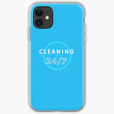 Cleaning 24-7, Savvy Cleaner Funnny Cleaning Gifts, Cleaning Iphone Case