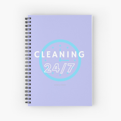Cleaning 24-7, Savvy Cleaner Funnny Cleaning Gifts, Cleaning Notebook
