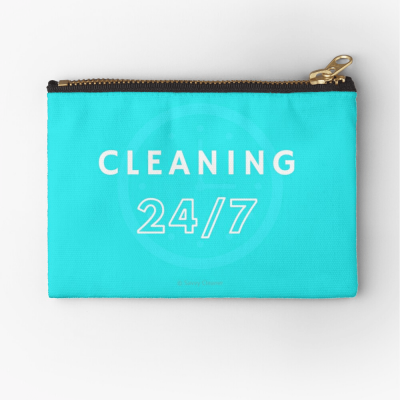 Cleaning 24-7, Savvy Cleaner Funnny Cleaning Gifts, Cleaning Zipper Bag