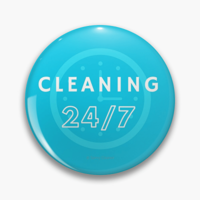 Cleaning 247 Savvy Cleaner Funny Cleaning Gifts, Buttons