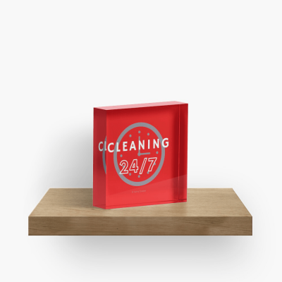 Cleaning 247 Savvy Cleaner Funny Cleaning Gifts, Collectible Cleaning Cubes