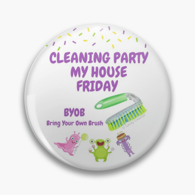 Cleaning Party, Savvy Cleaner Funny Cleaning Gifts, Cleaning Button