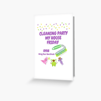 Cleaning Party, Savvy Cleaner Funny Cleaning Gifts, Cleaning greeting card