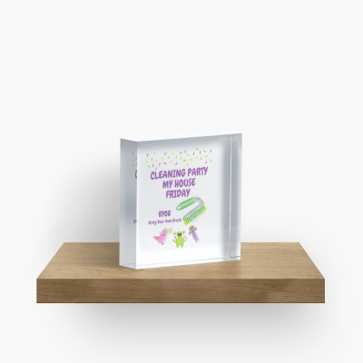 Cleaning Party, Savvy Cleaner Funny Cleaning Gifts, Cleaning Collectible cube