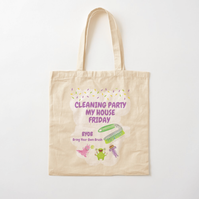 Cleaning Party, Savvy Cleaner Funny Cleaning Gifts, Cleaning Cotton tote bag
