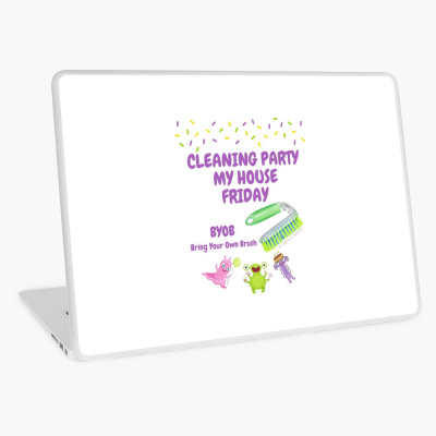 Cleaning Party, Savvy Cleaner Funny Cleaning Gifts, Cleaning Laptop skin