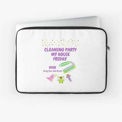 Cleaning Party, Savvy Cleaner Funny Cleaning Gifts, Cleaning Laptop sleeve