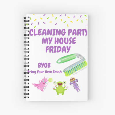 Cleaning Party, Savvy Cleaner Funny Cleaning Gifts, Cleaning Spiral notebook