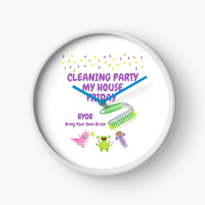 Cleaning Party, Savvy Cleaner Funny Cleaning Gifts, Cleaning clock
