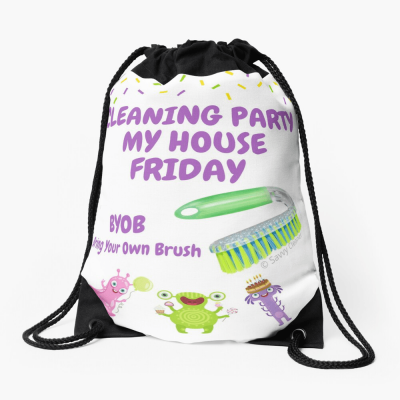 Cleaning Party, Savvy Cleaner Funny Cleaning Gifts, Cleaning drawstring bag