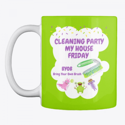 Cleaning Party, Savvy Cleaner Funny Cleaning Gifts, Cleaning mug