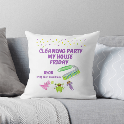 Cleaning Party, Savvy Cleaner Funny Cleaning Gifts, Cleaning throw pillow
