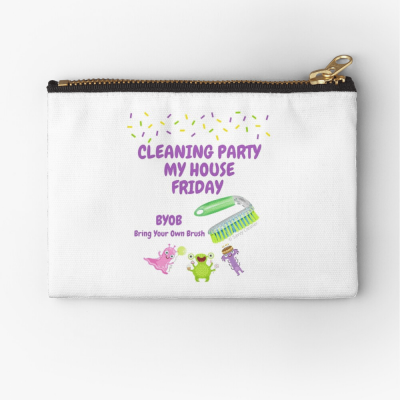 Cleaning Party, Savvy Cleaner Funny Cleaning Gifts, Cleaning zipper bag