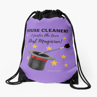Dust Magician, Savvy Cleaner Funny Cleaning Gifts, Drawstring Bag