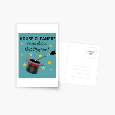 Dust Magician, Savvy Cleaner Funny Cleaning Gifts, Postcard