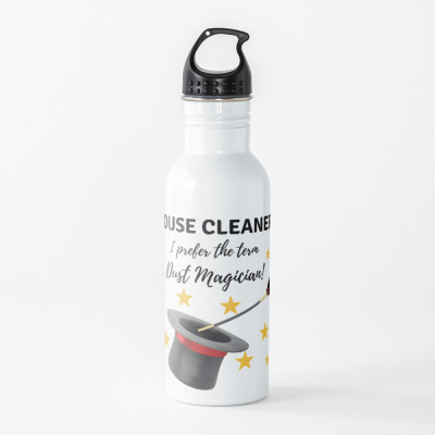 Dust Magician, Savvy Cleaner Funny Cleaning Gifts, Water Bottle