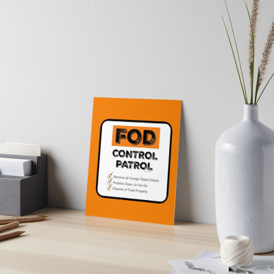 FOD Control Patrol, Savvy Cleaner Funny Cleaning Gifts, Board Print