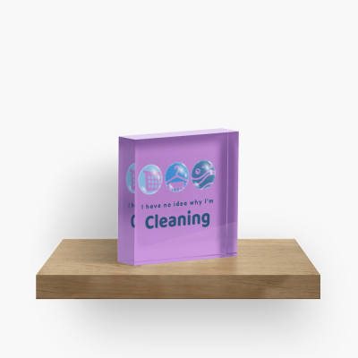 I Have No Idea Why I'm Cleaning, Savvy Cleaner Funny Cleaning Gifts, Collectible Cleaning Cubes