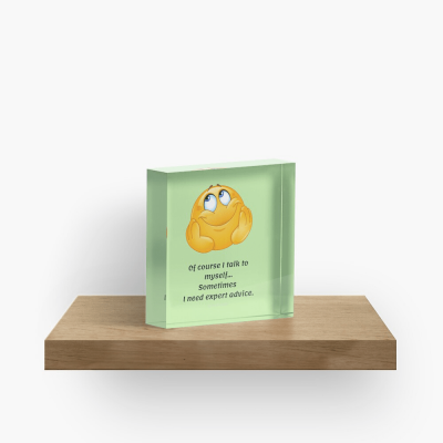 I Talk to Myself, Savvy Cleaner Funny Cleaning Gifts, Collectible Cleaning Cubes