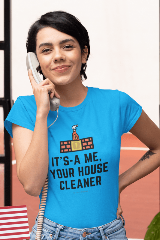 It's a Me, Your House Cleaner, Savvy Cleaner Funny Cleaning Shirts, Womens Boyfriend T-Shirt