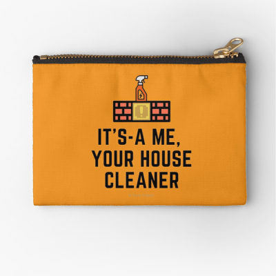 It's a me, Your House Cleaner, Savvy Cleaner Funny Cleaning Gifts, Cleaning Zipper Bag