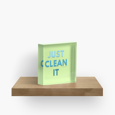 Just Clean it, Savvy Cleaner Funny cleaning Gifts, Cleaning Collectible Cube