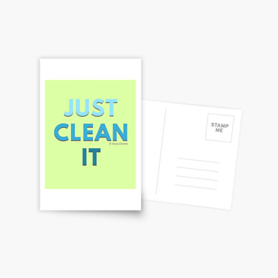 Just Clean it, Savvy Cleaner Funny cleaning Gifts, Cleaning Postcard