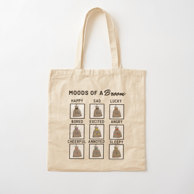 Moods of a Broom, Savvy Cleaner Funny Cleaning Gifts, Cleaning Cotton Tote Bag