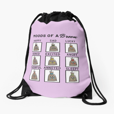 Moods of a Broom, Savvy Cleaner Funny Gifts, Cleaning Drawstring Bag