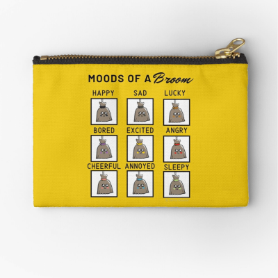 Moods of a Broom, Savvy Cleaner Funny Cleaning Gifts, Cleaning Zipper Bag