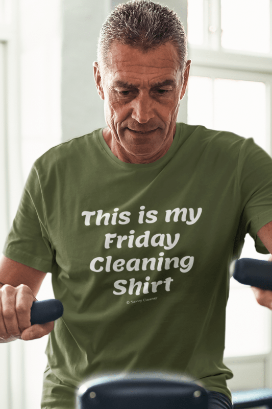 My Friday Cleaning Shirt, Savvy Cleaner Funny Cleaning Shirts, Triblend T-Shirt