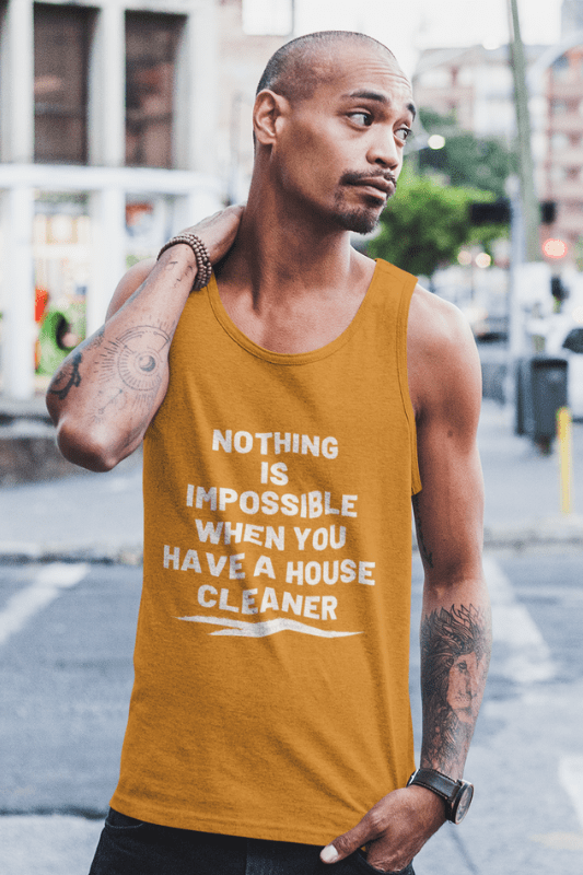 Nothing is Impossible, Savvy Cleaner Funny Cleaning Shirts, Classic Tank Top