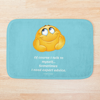 Of Course I Talk To Myself, Savvy Cleaner Funny Cleaning Gifts, Cleaning Bathmat