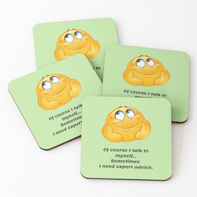 Of Course I Talk To Myself, Savvy Cleaner Funny Cleaning Gifts, Cleaning Coasters