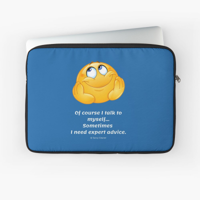 Of Course I Talk To Myself, Savvy Cleaner Funny Cleaning Gifts, Cleaning Laptop Sleeve