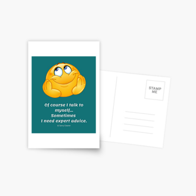 Of Course I Talk To Myself, Savvy Cleaner Funny Cleaning Gifts, Cleaning Postcard