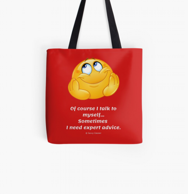 Of Course I Talk To Myself, Savvy Cleaner Funny Cleaning Gifts, Cleaning Tote Bag