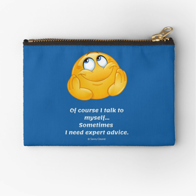 Of Course I Talk To Myself, Savvy Cleaner Funny Cleaning Gifts, Cleaning Zipper Bag