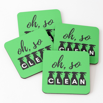 Oh So Clean, Savvy Cleaner Funny Cleaning Gifts, Cleaning Coasters