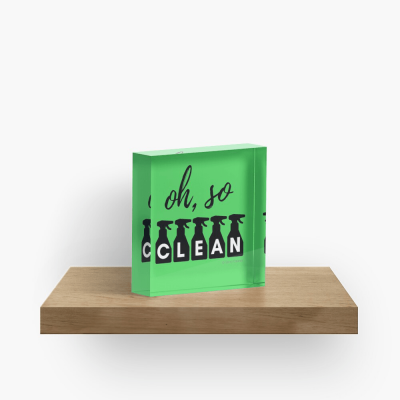 Oh So Clean, Savvy Cleaner Funny Cleaning Gifts, Cleaning Collectible Cube