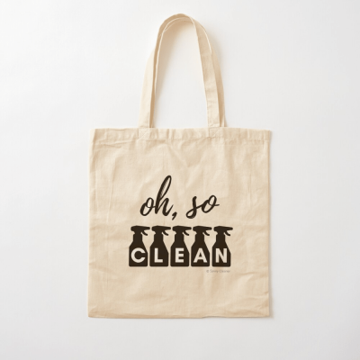 Oh So Clean, Savvy Cleaner Funny Cleaning Gifts, Cleaning Cotton Tote Bag