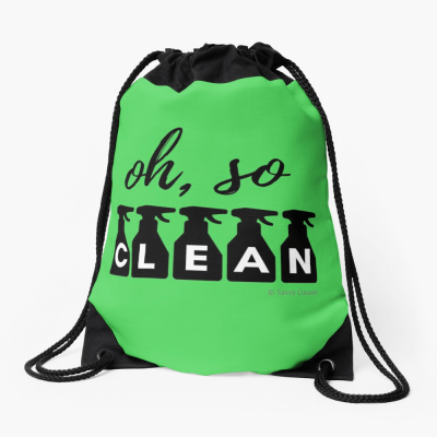 Oh So Clean, Savvy Cleaner Funny Cleaning Gifts, Cleaning Drawstring bag