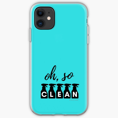 Oh So Clean, Savvy Cleaner Funny Cleaning Gifts, Cleaning Iphone Case