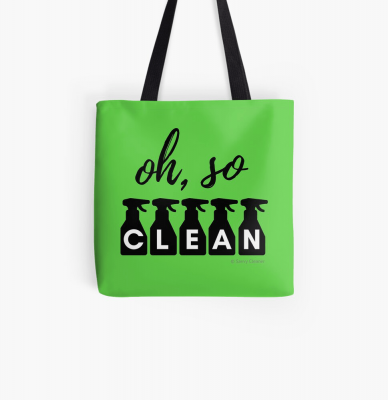 Oh So Clean, Savvy Cleaner Funny Cleaning Gifts, Cleaning Tote Bag