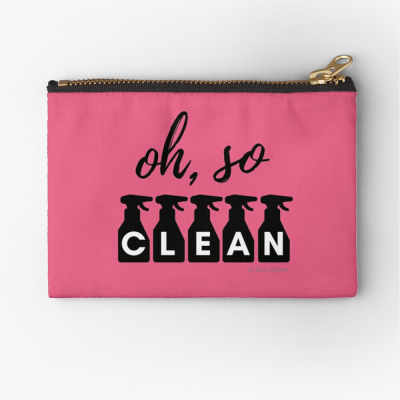 Oh So Clean, Savvy Cleaner Funny Cleaning Gifts, Cleaning zipper bag