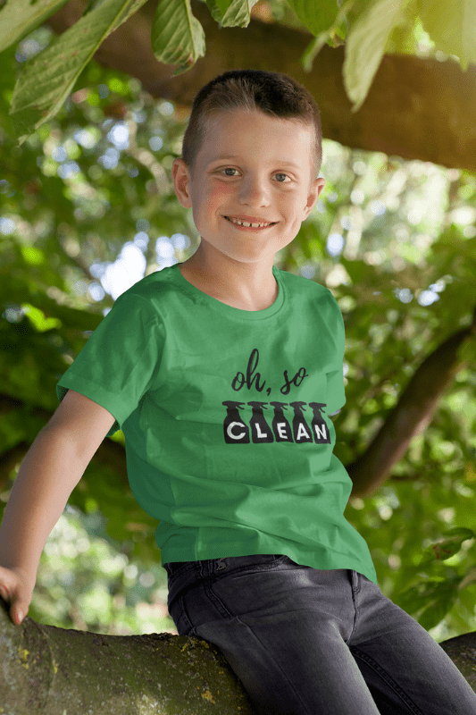 Oh So Clean, Savvy Cleaner Funny Cleaning Shirts, Kids Premium T-Shirt